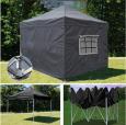 Быстросборный шатер-гармошка 3х3 черного цвета