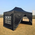 Быстросборный шатер-гармошка 3х4.5 черного цвета
