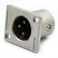 Разъем XLR 3 pin панельный штекер (папа)