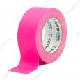 Тейп PRO-GAFF флуоресцентный, розовый на тканевой основе 48мм х 22.86м