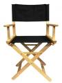 Кресло режиссера складное (стул - низкий) массив ясеня -цвет  ясень натуральный