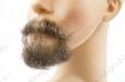 Борода малая c усами, профессиональная, накладная с усами (натуральный волос) ручная работа