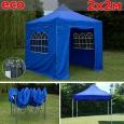 Быстросборный шатер автомат ECO 2 х 2 м, синий