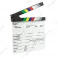 Кинохлопушка профессиональная, акриловая на русском языке с цветными планками