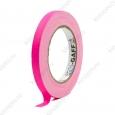 Тейп PRO-GAFF флуоресцентный розовый на тканевой основе 12мм х 23м
